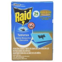 RAID TABLETAS MOSQUITOS X 24 UNIDADES