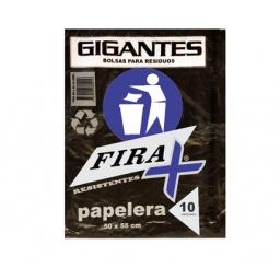 BOLSA RESIDUOS FIRA 50 X 55 CM PAQUETE X 10 UNIDADES