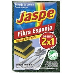 ESPONJA FIBRA JASPE 2X1