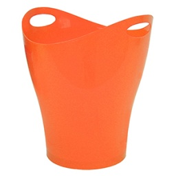 PAPELERA PLUS OFFICE PLASTICO NARANJA