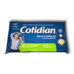 TOALLITAS COTIDIAN X 40 (25X28CM)