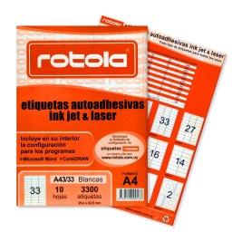 ETIQUETA ROTOLA X 10 HOJAS A4