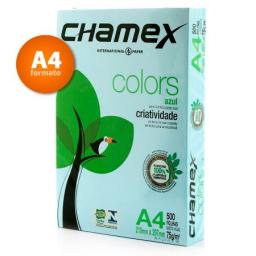 CHAMEX COLORS A4 X 500 HOJAS CELESTE