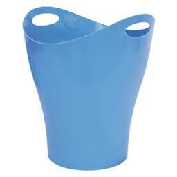 PAPELERA PLUS OFFICE PLASTICO CELESTE