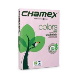 CHAMEX COLORS A4 X 500 HOJAS ROSADO
