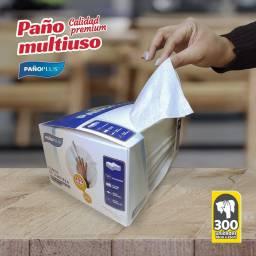 PAÑO PLUS BLANCO LISO CAJA X 300 UNIDADES