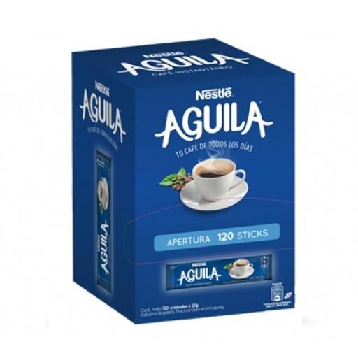 CAFE AGUILA EN STICK X 120 UNIDADES