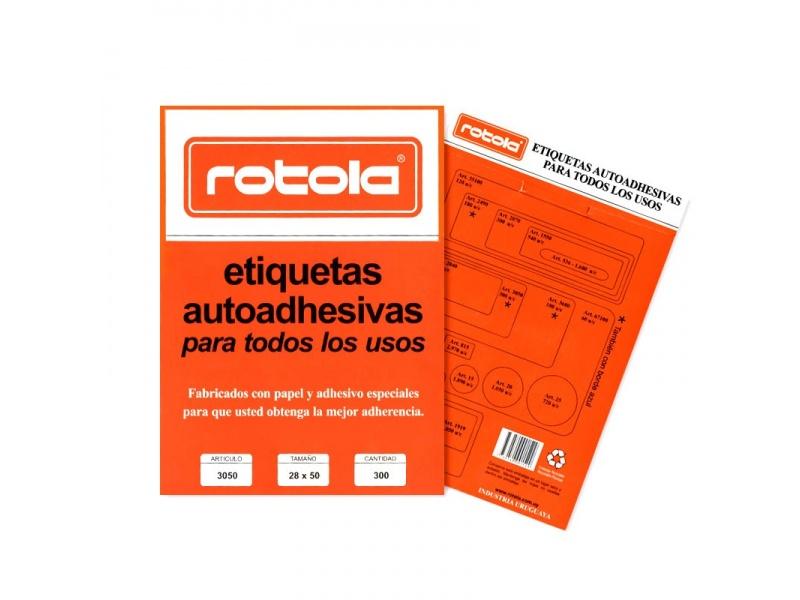 ETIQUETA ROTOLA X 30 HOJAS