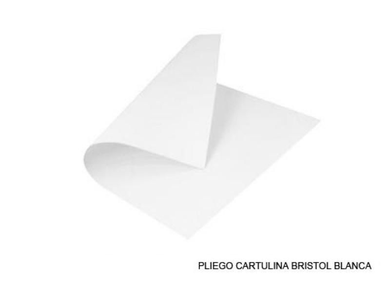 CARTULINA BLANCA X 20 UNIDADES