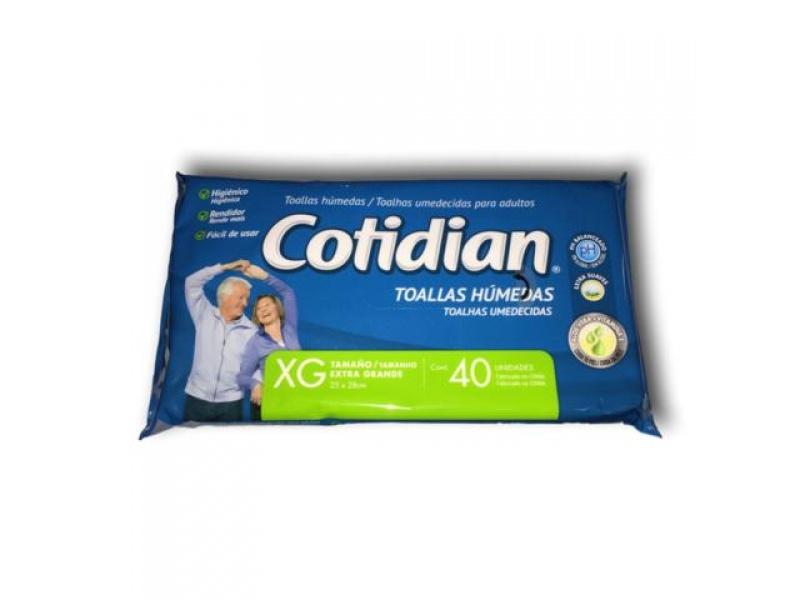 TOALLITAS húmedas COTIDIAN X 40