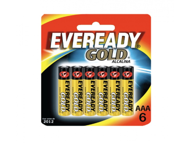 PILAS ALCALINAS EVEREADY GOLD AAA x 6